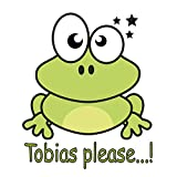 atFoliX Wandtattoo Green Frog (drunkenpets Serie) - Tobias please. - selbstklebend