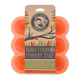 Babybrei Aufbewahrung zum Einfrieren von Babynahrung und als Behälter für Beikost   2 Farben zur Auswahl   BPA-frei & FDA zugelassen   9 x 75ml, ideale Portionsgröße