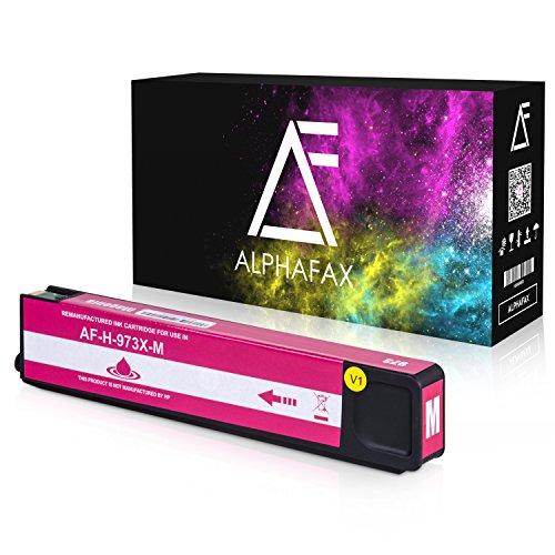 Alphafax Tintenpatrone kompatibel zu HP 973X für PageWide Pro 452dn 452dw 452dwt 477dn 477dw 477dwt 552dw 577dw 577z - Magenta -