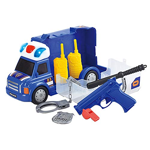 Kalaokei Kids Simulation Doctor Police Worker Fireman Pretend Role Play Toys with Light Gift-Police #