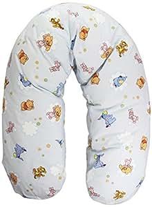 Julius Zöllner 4610010003 - Cuscino da allattamento, motivo: Baby Pooh and Friends, imbottitura in fiocchi, dimensioni esterne: 190 cm