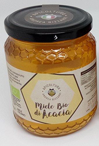 Miele BIO di acacia 500g. Prodotto e confezionato all'origine in Italia - Toscana - Firenze