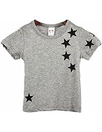 Ouneed® 1 - 6 ans Garcon Tshirt d'Ete Motif Etoiles