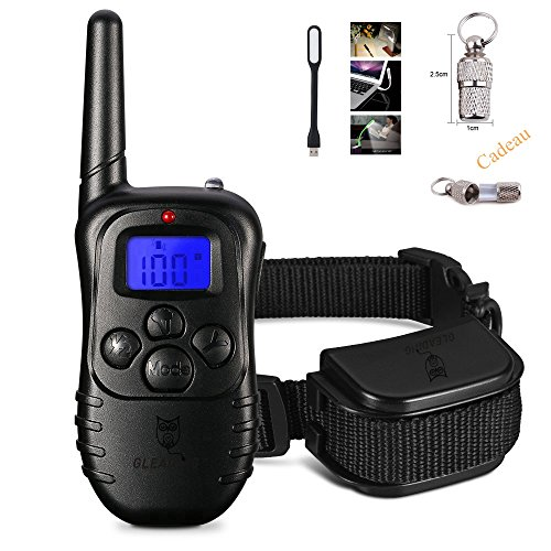Gleading 300 Meters Remote Dog Training Collar Waterproof Rechargeable Pet Trainer with Warning Tones, Vibration----Manual Mode