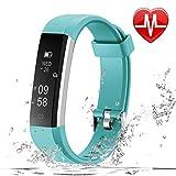 LETSCOM Fitness Armband Pulsmesser Schrittzähler Pulsuhr IP67 wasserdicht Schlafüberwachung Fitness Tracker für Damen Herren und Kinder