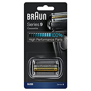 Braun Electric Shaver Replacement Part 92B Black, Compatible with Series 9 Shavers