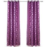 2x visillos confeccionados cortinas doble gasa forro cosido con ollados mates bordado