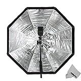 Fomito Boîte à lumière parapluie portable octogone Tente pour studio photo 80/120cm