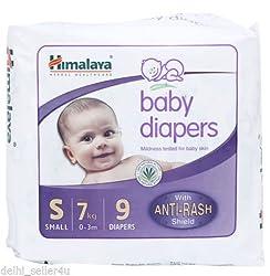 Himalaya Herbals Baby Diaper Small Size - 9 Pcs