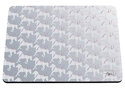 hippowarehouse-running-horses-pattern-printed-mouse-mat-pad-accessory-black-rubber-base-240mm-x-190m