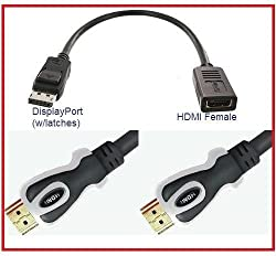 Value Pack (DP-HDMI + 10DT) - PTC Premium DisplayPort (DP) Male to HDMI Female Adapter with 10ft Dual Tone HDMI v1.3 Certified Cable