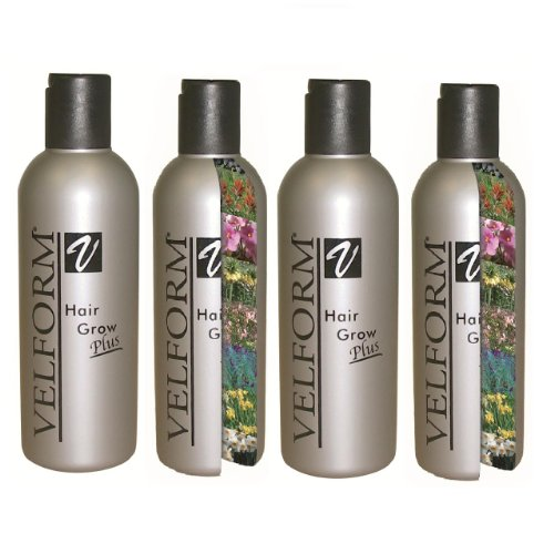 Velform - Hair Grow Plus - Lotion qui favorise la repousse des Cheveux - Lot de 4