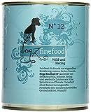 Dogz finefood Hundefutter No.12 Wild & Hering 800 g, 6er Pack (6 x 800 g)