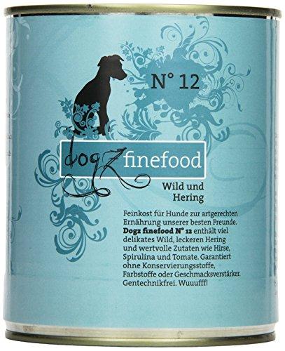Dogz finefood Cani mangime No. 12Wild & Hering 800G, Confezione da (6X 800G)
