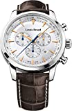 Louis Erard Men's 42mm Chronograph Brown Calfskin Quartz Watch 13900AA11.BDC101