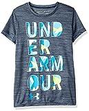 Under Armour Hybride 2.0 Grand Logo Tee T- T-Shirt Fille, Academy/Deceit (408), FR :...