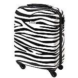 Hartschalen Reise Koffer 55 x 40 x 20 Handgepäck 30 Liter Zebra 813/818