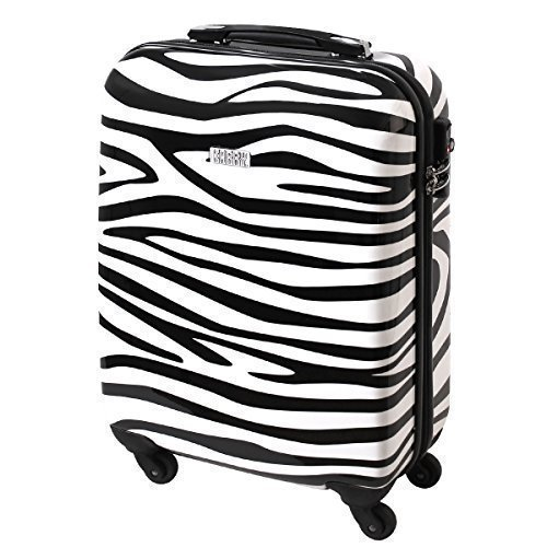 Karry - Maleta negro/blanco carry-on cabin size