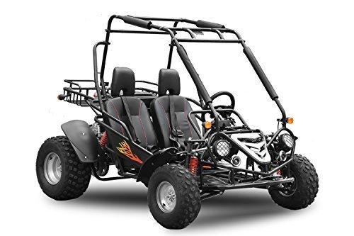 Preisvergleich Produktbild Maxi Buggy 200cc Ölgekühlt E-Start Automatik CVT mit Rückwärtsgang Offroad Quad ATV Bike Midi (Schwarz)