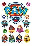 Bedruckte Cupcake-Topper / Dekorationsset in Form von Paw-Patrol-Polizeimarken für Kuchen
