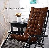 YXZQ Outdoor Sun Lounger Cushion Patio Mobili da Giardino Spessa Imbottita Letto reclinabile Relaxer Chair Topper Schienale Alto Cuscino per Sedia Dimensioni 155 * 48 * 8 cm (caffè)