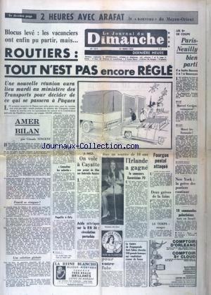 JOURNAL DU DIMANCHE (LE) [No 1217] du 22/03/1970