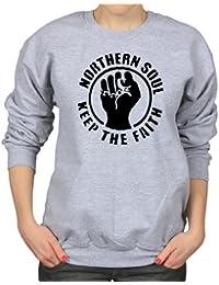 Northern Soul Keep The Faith Classic Retro Fist Logo Unisex Sweatshirt
