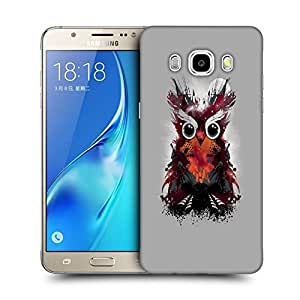 Snoogg Abstract Red Owl Designer Protective Back Case Cover For SAMSUNG GALAXY J7 2016 J710X
