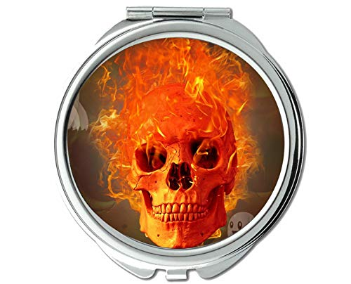 Yanteng Spiegel, Reisespiegel, Danger Ghost Angst abstrakt, Taschenspiegel, 1 X 109X Vergrößerung