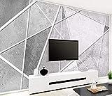 HONGYUANZHANG Einfache Abstrakte Marmorierte Straße Tapete Des Foto-3D Künstlerische Landschafts-Fernsehhintergrund-Tapete,104Inch (H) X 136Inch (W)