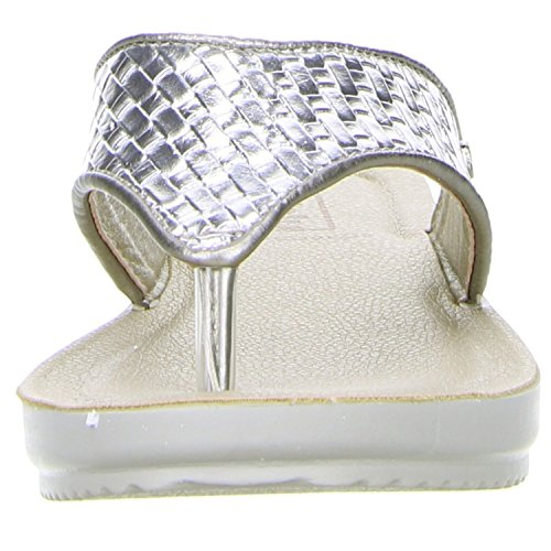 inblu Damen Zehentrenner silber Silber