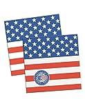 USA Party Servietten Flagge Design 25cm (20Stück)