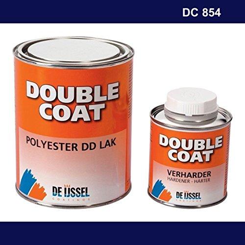 De IJssel Double Coat 2K Bootslack - Farbe Marineblau/DC 854-1 kg Set - (2K Lack, Yachtlack, Decklack) Marine blau -