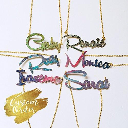Ihr Name Halskette - Ihr Wort benutzerdefinierte Halskette - Bachelorette Party Geschenk - Team Braut - Brautjungfern Geschenk - Custom Schmuck - Geschenk für sie