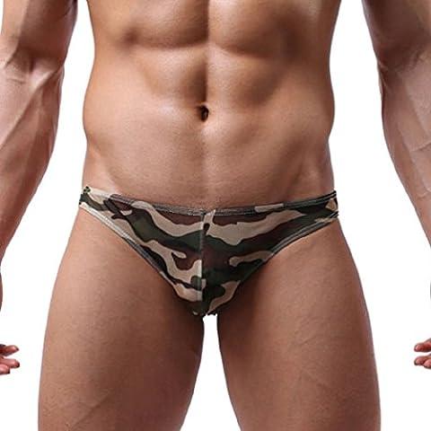 Hombres G-string,Xinantime Transparente Ultrafino Ropa interior para hombres
