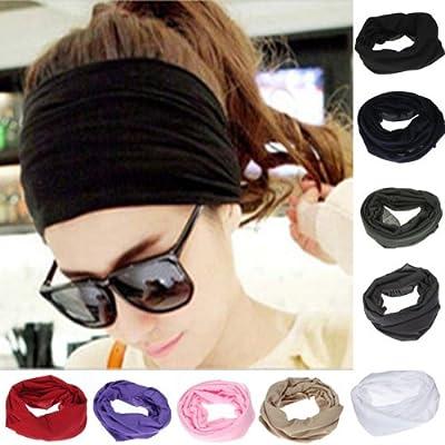 Multifunktionstuch - Schlauchtuch Kopftuch Bandana Cap Halstuch Stirnband 5 Farben Wahl von FamilyMall Co., LTD - Outdoor Shop