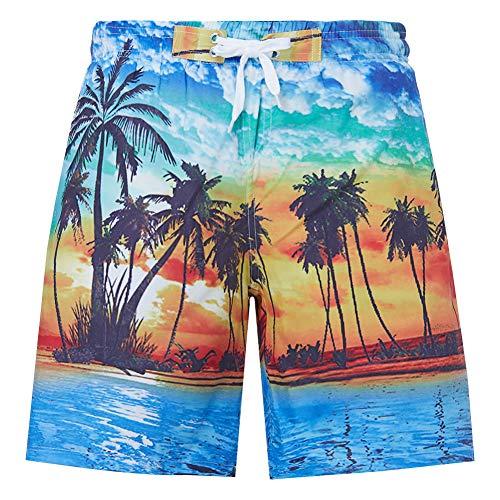 RAISEVERN Ragazzi 3D Stampati Divertenti Costumi da Bagno per Sport da Spiaggia Quick Dry Sports Running Short Shorts Board Vacation...