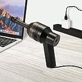 Mini USB Aspirateur pour Clavier Keyboard Ordinateur Souris MECO Kit de Nettoyage à Brosse de Poussière de Clavier d'Ordinateur Noir