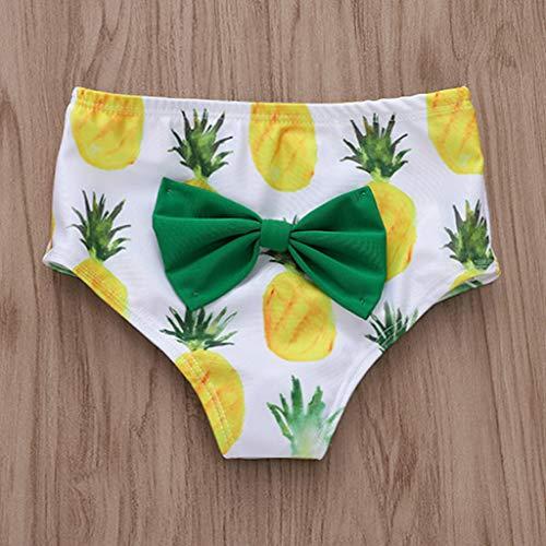miglior sito web 01409 75f21 LianMengMVP Set Costumi Bambina Mare Costume Bagnarsi Spiaggia Costume da  Bagno Neonata Swimsuit con Stampa Ananas Bikini+ Fascia per Capelli Bimba  ...