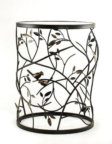 Die Reise ins Ich Luxus Produkte Vogel und Zweige Ende Tisch, Metall, antik bronze, groß