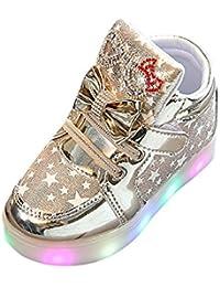 Kukul Kul-A188 Zapatillas para Unisex-niños 1-6 años Nuevo Zapatos Deportivos Luminosos - Sneaker LED Luminous