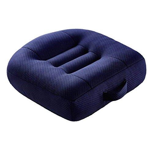 Preisvergleich Produktbild QIHANGCHEPIN Advanced Comfort-Kissen,  rutschfestes orthopädisches Memory-Foam-Steißbein-Sitzkissen,  Memory Foam-Kissen,  passend für Ihren Bürostuhl - Car-Kissen und Sitzen auf dem Boden bietet Entlastung von Steißbeinschmerzen ( Farbe : Dunkelblau )
