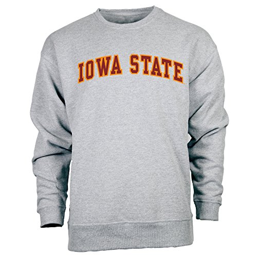 Ouray Sportswear NCAA Iowa State Cyclones Legacy DLX Crew Hoodie, Small, Premium Heather - Adult Premium Hoodie