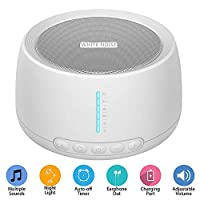 Sleep White Noise Machine, 18 Non-Looping Soothing Sounds with High Quality Speaker & Memory Function/Portable Sleep Therapy Machine for Home Office Adults Baby Travel