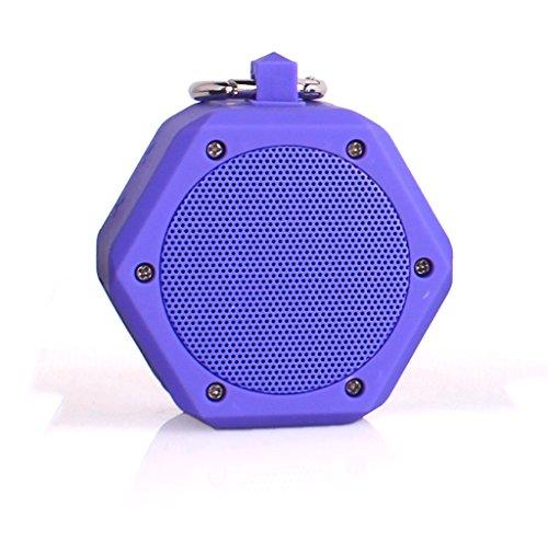 YunMei beweglicher mini drahtloser Bluetooth Stereolautsprecher, vielzweckiger wasserdichter im Freien- / Dusche-Lautsprecher, mit 3W StereoBluetooth Lautsprecher BB-120 (lila)