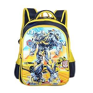 Backpack Transformers Impreso Mochila Impermeable Mochilas Infantiles Escuela Infantil para Niños Y Niñas Mochilas Bolsas Escolares 3-12 Años Transformers-M(26 * 27 * 18CM)