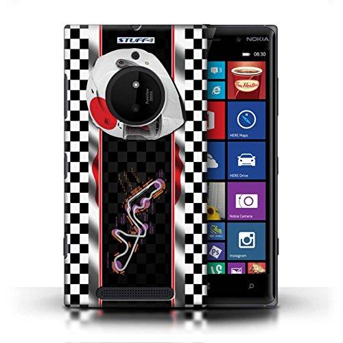Kobalt® Imprimé Etui / Coque pour Nokia Lumia 830 / UK/Silverstone conception / Série F1 Piste Drapeau Japon/Suzuka