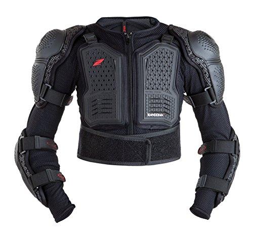Zandonà Capo Protettivo Stealth Jacket Kid x7, Altezza 106/125 cm (Giro Vita 57-73, Nero, Taglia Unica