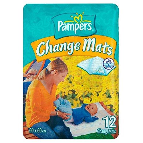 Pampers Wickelunterlage Change Mats 60x60cm 12 Stück, 2er Pack