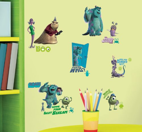 Image of RoomMates Children's Repositonable Disney Wall Stickers Monsters Inc., Multi-Color